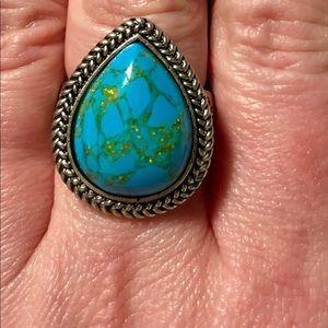 Teardrop Shaped Ring-Size 9
